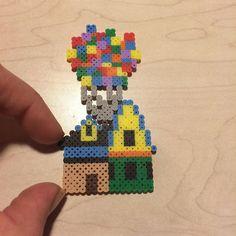 Up movie house mini perler beads by Angela