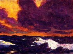 The Sea - Emile Nolde (1930).