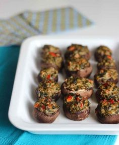 Spinach Stuffed Mushrooms | 32 Vegan Recipes That Are Perfect For Thanksgiving