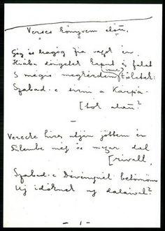Figyelje meg Ady Endre kézírását! (az Új versek kötet egyik költeménye)