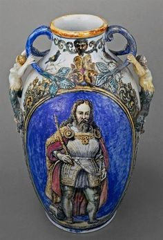 Ânfora/Amphora (D. Sancho I), Wenceslau Cifka, 1877 [Museu Nacional do Azulejo/Azulejo's National Museum] Portugal