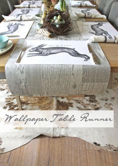 Fabulous wallpaper table runner!