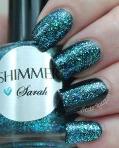 Shimmer Polish Sarah over Etude House WH004