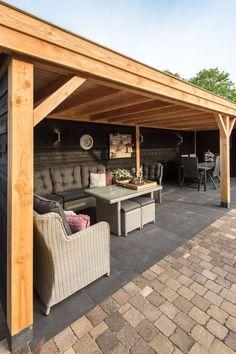 Pergola For Small Backyard Backyard Pavilion, Backyard House, Backyard Patio Designs, Backyard Landscaping, Iron Pergola, Deck With Pergola, Pergola Kits, Indoor Outdoor Living, Outdoor Rooms