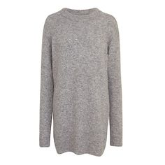 Buy Samsoe & Samsoe Nor Knitted Dress, Grey Melange Online at johnlewis.com