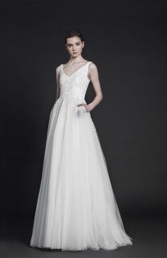 New Pretty Light Blue Ball Gown Long Backless Wedding Gowns PM