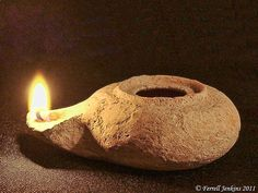 Herodian oil lamp from the time of Christ.  Simple and functional...yet so stylish!