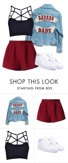 """Chilling w/ the Homies"" by thefashionguilty on Polyvore featuring RED Valentino and NIKE"