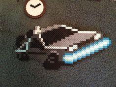 Back to the Future Perler Bead Project - Pixel Art Shop Diy Perler Beads, Perler Bead Art, Pearler Beads, Hama Beads Patterns, Beading Patterns, Iron Beads, Dark Fantasy Art, Fuse Beads, Back To The Future