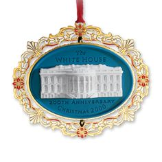 2000 White House Christmas Ornament, 200th Anniversary of the White House - Ornaments - Christmas | The White House Historical Association