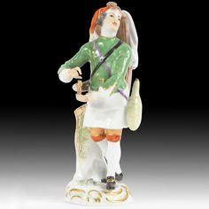 Meissen Porzellan Figuren  Wasserverkäufer  aus der  Pariser Ausrufer
