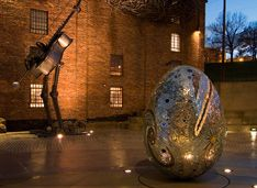 Baltimore, MD - American Visionary Art Museum is located on a 1.1 acre wonderland campus featuring three historic renovated industrial buildings, sculpture gardens, a museum store and restaurant.