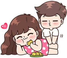 Boobib lovely couple 5 (Indo) – LINE stickers Cute Chibi Couple, Love Cartoon Couple, Cute Couple Art, Cute Love Pictures, Cute Cartoon Pictures, Cartoon Pics, Cute Couple Drawings, Cute Drawings, Cute Love Cartoons