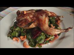 Ricetta Quaglie prugne e anacardi - YouTube