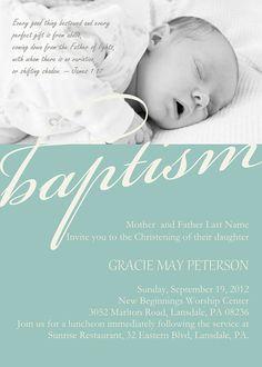NEW: Modern Baby #Dedication #Christening #Baptism Photo Invitation by DiconshaDesigns, $9.00