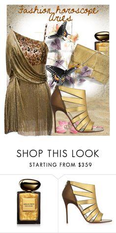 """Aries loves animal print fashion"" by fashionrushs ❤ liked on Polyvore featuring Giorgio Armani, Christian Louboutin, Versace, fashionhoroscope and stylehoroscope"