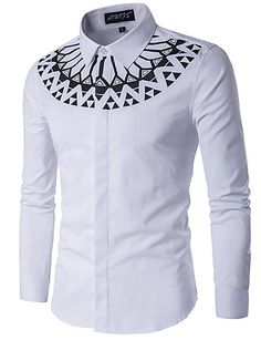 Cheap shirt making, Buy Quality shirt clipart directly from China shirt denim men Suppliers: Camisa Masculina Slim Fashion Men Shirt 2017 New Brand Casual Long-Sleeved Chemise Homme Camisa Masculina large size African Attire, African Wear, African Style, Striped Long Sleeve Shirt, Long Sleeve Shirts, African Shirts For Men, White Shirt Men, African Men Fashion, Fashion Men