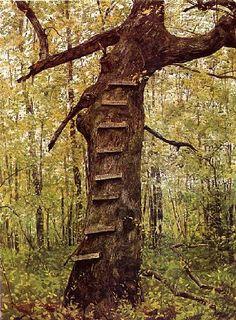 Jamie Wyeth - Steps, Watercolour, 1972