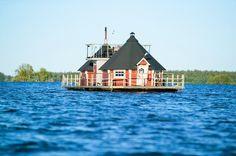 Ungewöhnliche Orte zum Schwitzen | Das Sauna-Schiff | Die schwimmende Sauna in Finnland