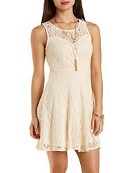 Flirty Lace, Cut-Out & Knit Skater Dresses: Charlotte Russe