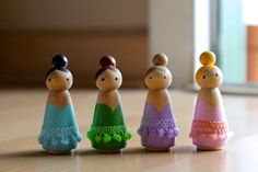 Ballerina Wooden Peg Doll  Each one is hand painted with acrylic paint and sealed with mod podge. Perfect for the little ballerina in your