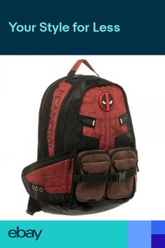 Marvel Comic Deadpool Captain America Backpack Laptop Travel Bag School Bags d411405815d5c