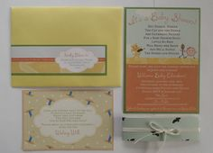 Nursery Rhyme Baby Shower Invitations - Made to Order. $100.00, via Etsy.