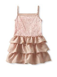 48% OFF Mini Treasure Girl\'s Marilyn Sequin Dress (Pink)