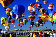 WEST: New Mexico -The Albuquerque International Balloon Fiesta - What better way to see the amazing colors of this year's fall foliage, than from a hot air balloon.