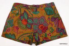 RUBINACCI Napoli Multi-Color Floral Bathing Suit Swim Shorts Trunks 46 XS NEW
