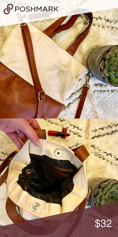 Free People Tote with Removable Crossbody Strap Free People tote with removable cross-body strap. This medium sized bag is perfect for day trips! Cute liner inside too! Free People Bags Totes