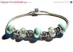 SALE and FREe SHIp european bead Bracelet by CookalasHouseOfCards, $15.19