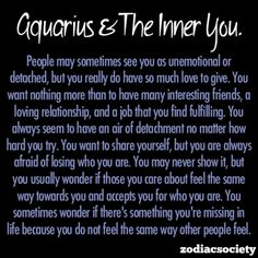 Aquarius and the inner you.