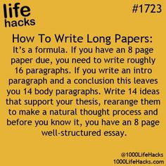 Ahhh, that's why I find it hard writing 8 pages (or anything more than 3), it involves using a (math) formula!