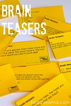 brain teasers for kids | teachmama.com --> LOVE that these get kids' brains moving at any time of the day