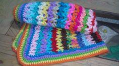 Manta Colorida a crochet para Bebé