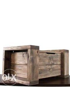 kufer drewniany, skrzynia, skrzynka drewniana, stolik kawowy, ława Kraków - image 3