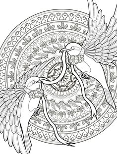 adult coloring pages with birds free downloadable web --> For the top coloring books and writing utensils including drawing markers, colored pencils, gel pens and watercolors, please visit http://ColoringToolkit.com. Color... Relax... Chill.
