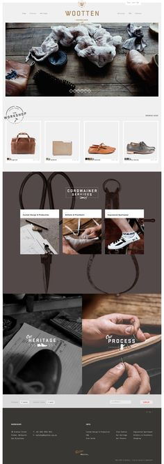 Wootten | Cordwainer and Leather Craftsmen | Awesome Screenshot