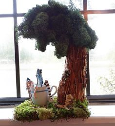 fairy garden tree from a banana stand, crafts, gardening, repurposing upcycling