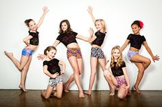 Dance Moms Group shot - say cheeeeseee! Sporting our vintage inspired limited edition classic shorts.