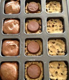 Chocolate Cookie Dough Brownie Cupcakes - Cupcakepedia