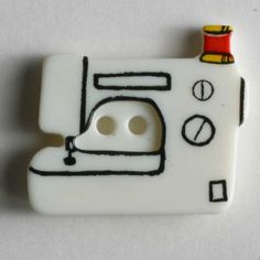 Sewing machine button Size: 25mm Color: white-280798-20