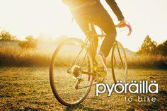 Pyöräillä ~ to bike. A very important Finnish word for me