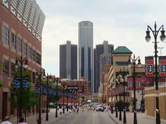 detroit landmark | Ford Field, Comerica Park and GM. Detroit landmarks