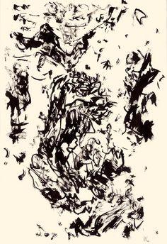 Der Maler Max Weiler 1910-2001 | Kunst - Zeichnungen und Arbeiten auf Papier - Autonomie der Mittel, 1960-1968 Abstract Drawings, Abstract Art, Mark Making, Artist At Work, Contemporary Art, My Arts, Inspiration, Paper, Middle