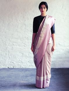 Buy Light Bronze Pink Jeenat Cotton Silk Saree By Raw Mango Sarees Woven Mashroo A Collection of Online at Jaypore.com
