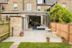 ​The new high beauty of a High Barnet house Terraced House, Barnet, Garage Doors, Kitchen Extensions, Patio, Camila, Outdoor Decor, Beauty, Home Decor
