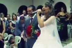 ... Através do olhar ... : Com vozeirão, noiva entra cantando em casamento e ...