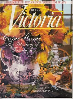 Victoria Magazine November 1998 Thanksgiving Harvest Dinner Bob Timberlake Herbs